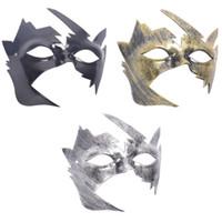 hermosas mascaras al por mayor-Máscara de Halloween Hombres bonitos bruñidos antiguos mascarada veneciana Máscara de bola del partido