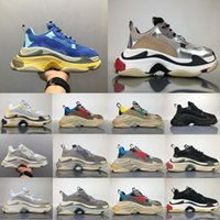 Wholesale Women S White Rubber Shoes - Hot Sale 2018 Top Quality New Triple-S Sneakers Men Women Running Shoes Sports Shoes Size 36-45
