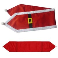 Wholesale xxl party clothes online – ideas Fashion Navidad Santa Claus Clothes Tablecloth Christmas Dinner Table Flag Xmas Party Supplies Christmas Decoration for Home