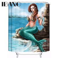 Wholesale shower curtains resale online - Mermaid Shower Curtain Sexy Customized Shower Curtain Waterproof Bathroom Fabric x72 quot Quality For The Bathroom