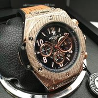 Wholesale working fashion - all pointers work Swiss High quality HUBT brand 6 pin run seconds Men Watches fashion luxury men Watch HUBT LOGO wristwatch Relogio