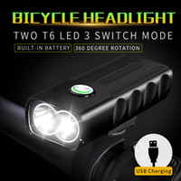 Wholesale 2018 BX2 Bicycle light Smart T6 LED USB Recharging Bike Headlight Rotation Meters LM Brightness Waterproof Ipx