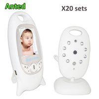 mode vidéo moniteur bébé achat en gros de-20 ensembles / lot 2.0 couleur vidéo sans fil bébé moniteur baby-sitter caméra 2 voies parler vision nocturne moniteur de température livraison gratuite DHL