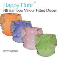 Wholesale ai2 baby diapers resale online - Newborn bamboo velour fitted diaper natural bamboo fitted diaper AI2 NB fit baby from kgs not waterproof