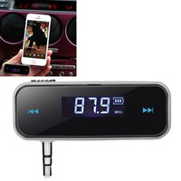 Wholesale wireless electronic transmitter resale online - Mini Transmitt mm Electronic In car Car FM Transmitter Wireless LCD Stereo Audio Player For iPhone Samsung Galaxy Smartphone