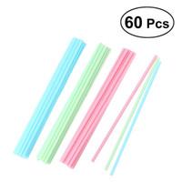 Wholesale lollipop sticks wholesale - 60pcs Cake Pop Sticks 15 cm Pastel Colors Kitchen Craft Plastic Handles for Cake Colored Lollipop Sticks