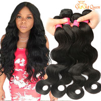 Wholesale natural body products - Grade 8A Brazilian Virgin Hair Body Wave Bundles Human Weaves 100g Bundles Wet And Wavy Brazilian Hair Gaga Queen Hair Product