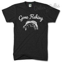 ingrosso andato a pescare-GONE FISHING Tshirt Fish T Shirt Top Pescatore Pescatore Presente Carpa