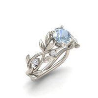 Wholesale elegant valentine party gifts resale online - Josbores Elegant CZ Crystal Tree Branch Rings for Women Girl Pretty Sier Color Wedding Charms Ring Valentines Lovely Gift