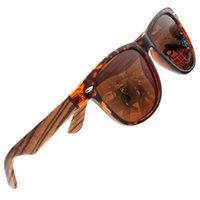 bambu leopardo venda por atacado-1501 óculos de sol de madeira óculos de sol polarizados para homens mulheres designer de leopardo de condução de bambu óculos de sol de madeira eyewear