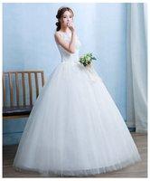 Wholesale married pictures - 2018 New Fashionable Flowers Wedding Dresses Cheap Plus Size Lace Appliques Married Weding Dress Elegant vestidos de renda