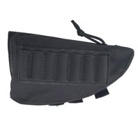 ingrosso titolari di munizioni-Portable Tactical Tactical Buttstock Rifle Cheek Rest Pouch Holder Ammo Caso Fucile Munizioni Round Cartridge Bag