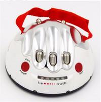игрушки с электрошоком для взрослых оптовых-Забавный портативный взрослых Полиграф Тест поражения электрическим током Lie Detector Party Game Reloaded Истина Шокирующая Liar игрушка подарок Возраст 14+