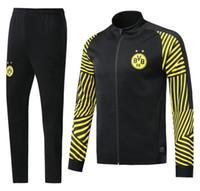 Wholesale sports clothes men online - Hot Borussia Dortmund soccer jacket tracksuit Survetement PULISIC REUS M GOTZE Dott clothes sports wear football jacket kits