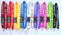 halsriemen für kameras großhandel-Heiß! 10 stücke U A Mode Kleidung logo Lanyard Abnehmbar Unter Keychain hals storp iPod Kameragurt Badge Cell 9 farben können auswählen