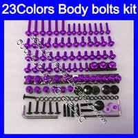 Wholesale Yamaha Fzr - Fairing bolts full screw kit For YAMAHA FZR400 86 87 88 FZR400R 400 FZR 400R FZR 400 R 1986 1987 1988 Body Nuts screws nut bolt kit 23Colors