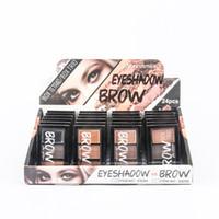 hacer maquillaje de cejas al por mayor-MK 24 unids / set Pro Eyebrow Enhancer maquillaje de cejas a prueba de agua en polvo de cejas paleta de sombra de ojos con pincel de maquillaje kits