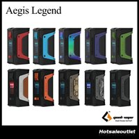 Wholesale e power - Authentic GeekVape Aegis Legend Mod Aegis Legend 200W TC Box MOD Powered by Dual 18650 Batteries e cigs No Battery 100% Original