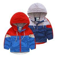 bebekler kışlık şapkalar toptan satış-Bebek Takım Elbise 2018 Kış Takım Elbise Yeni Erkek Çocuk Giyim çocuk Kalınlaşma Artı Kadife Şapka Ceket Spor