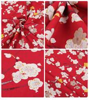 ropa de boda japonesa al por mayor-ZENGIA 100% algodón satén vintage tela de estilo japonés para la costura de bricolaje mujeres vestido de boda vestido de tapicería