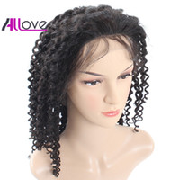 Wholesale best curly lace wigs resale online - Best A Kinky Curly Brazilian Hair Human Hair Lace Front Wigs Density Human Hair Wigs For Black Women Hot Selling