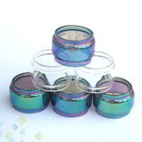 ecig do arco-íris venda por atacado-FreeMax Fireluke Malha Estendida Tubos De Vidro De Pirex Fat Boy Clear Rainbow 2 Cores Substituição Tubo de Vidro Da Luva Ecig DHL Livre
