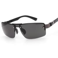 sábanas de plástico al por mayor-Nuevo Estilo Moda Hoja de Copia sin marco Sapo Gafas de Sol Material de Aleación de Plástico Protección UV Gafas Hombres Aptos Venta Caliente 3 5fl ff