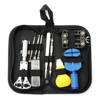 Wholesale tool sets for sale resale online - Hot Sale Watch Tool Set Watch Repair Tools Kit Watch Tools Watchmakers Set With Leather Sheath x tools x Bits Pins For Watchmaker