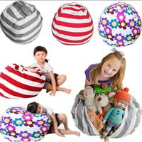 Wholesale toy 43 - Stuffed Animal Storage Bean Bag Chair 61cm Portable Kids Toy Organizer Play Mat Clothes Home Organizers 43 Styles OOA3879