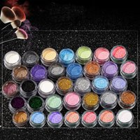 Wholesale powder delivery - 2018 Eye Shadow Makeup Cosmetic Shimmer Powder Pigment Mineral Glitter Spangle Eyeshadow 40 Colors Free Delivery