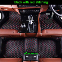 Wholesale Weather Floor Mats - Right Hand Drive 6 Colors Leather Car Floor Mats for All Car All Series 5 Seats All Weather Waterproof Anti-slip 3D Car Mats Carpets