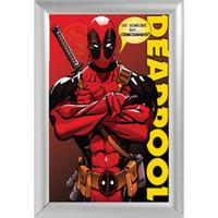 Wholesale Framed Comic - Silver Color Aluminum Alloy Picture Frame Home Decor Custom Canvas Frame Comics Deadpool Canvas Poster F170112#191