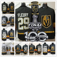 Wholesale Mens Hockey Jerseys - Mens Youth Womens #18 James Neal 29 Marc-Andre Fleury 71 William Karlsson Vegas Golden Knights Gray Inaugural Season 2018 Stanley Cup Jersey