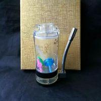 lámpara de aceite gafas al por mayor-El nuevo acrílico con lámpara de alcohol hookah Venta al por mayor Bongs de vidrio Oil Burner Glass Water Pipes Oil Rigs Smoking Free