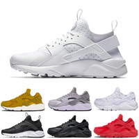 Wholesale light up fashion for sale - 2019 huarache mens running shoes triple black white gold red fashion huaraches mens trainers women sports sneaker on sale