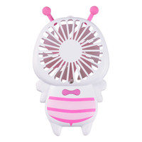 Wholesale small electric lights for sale - Small Bee Portable Hand Hold Fans Luminous Electric Night Lamp Mini Usb Rechargeable Fan Wedding Favors For Guest Gifts zk gg