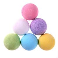 baño de burbujas spa al por mayor-40 g Bola de la bomba de baño de burbujas naturales Calmar natural Bola de sal de baño de burbujas Aceite esencial Bola de ducha de spa Mezclar los colores DHL gratis