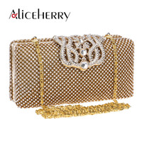 luxury brand clutch bag Australia - Women Evening Bag Luxury Brand 2017 Messenger Bags Ladies Party Widding Shoulder Bags with Diamonds Casual Crown Day Clutches