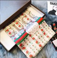 Wholesale skull womens - Spring Designer Silk scarf for Women New Famous Brand Womens Long Scarves shawls 180x90cm Beach wrap