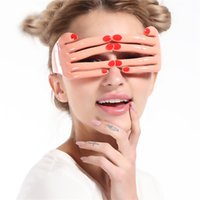 Wholesale april finger - Unique Design Finger Funny Glasses For Halloween Theme Mask Night Club And Party Cheer Up Eyeglasses Props New Arrival 7 5sf Z