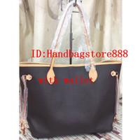 Wholesale designer female wallets resale online - 2pcs set high qulity classic Designer womens handbags ladies composite tote PU leather clutch shoulder bags female purse with wallet