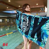 banyo battaniyesi toptan satış-147 * 71 cm Plaj Havlusu Battaniye Pembe Mektup Emici Pamuk Banyo Havlusu Banyo Lif için VS Aşk Pembe Plaj Havlusu