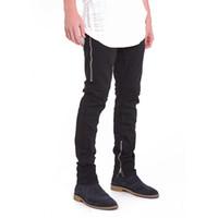 мальчики джинсы брюки общий оптовых-Men Slim Jeans casual brand Straight Denim Overall Zipper Male Trousers Pants Fashion Classic Boy Cowboy Pants