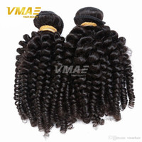 Wholesale 7a kinky curl hair resale online - Peruvian Virgin Hair Afro Kinky Curly Hair Percent Human Hair Extensions Weaves Peruvian Spiral Curl Good Quality A