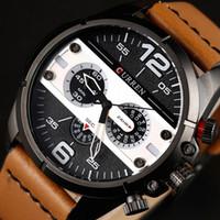 novo quartzo quartzo venda por atacado-Curren 8259 Top Marca de Quartzo Criativo relógio dos homens de Luxo Casuais relógio de quartzo-Designer Simples Moda cinta relógio masculino Novo