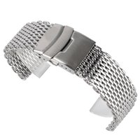 часы серебряные оптовых-18/20/22mm Watchband  Cool Watches Mesh Stainless Steel Bracelet Silver Wristwatch Band Strap Replacement + 2 Spring Bars