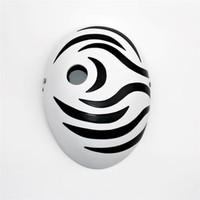 Wholesale ninja masks - New Japan Naruto Cartoons Mask Tobi Obito Naruto Akatsuki Ninja Madara Uchiha Masquerade Cosplay Full Face Resin Cool Masks
