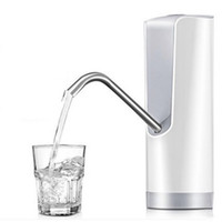 Wholesale automatic water bottle dispenser - Portable Electric Bottled Water Pump Home Automatic Rechargeable Waters Dispenser ABS Resin With USB Cable Battery Drinking Pumps 38js YY