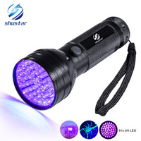Wholesale Waterproof Led Dog Lights - Uv Led Flashlight 51 Leds 395nm Ultra Violet Torch Light Lamp Blacklight Detector for Dog Urine Pet Stains and Bed Bug