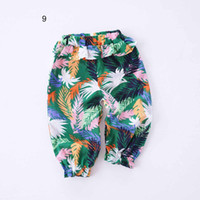 Wholesale flower harem for sale - NEW arrival Baby Clothes Summer Girls Flower and Leaf Print all match cotton anti mosquito baby girl Lantern pant